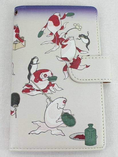 Wallet Mobile Phone Case Cover - Goldfish, Kuniyoshi
