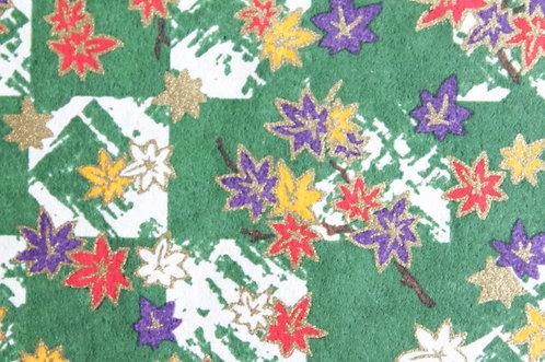 Hand-Dyed Yuzen Washi Paper - 015 Green