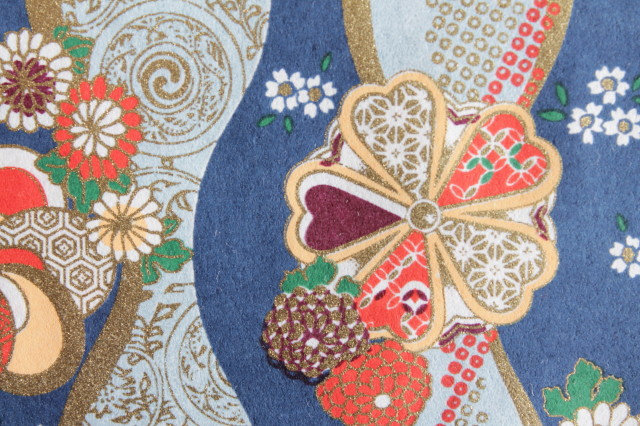 Hand-Dyed Yuzen Washi Paper - 027 Blue