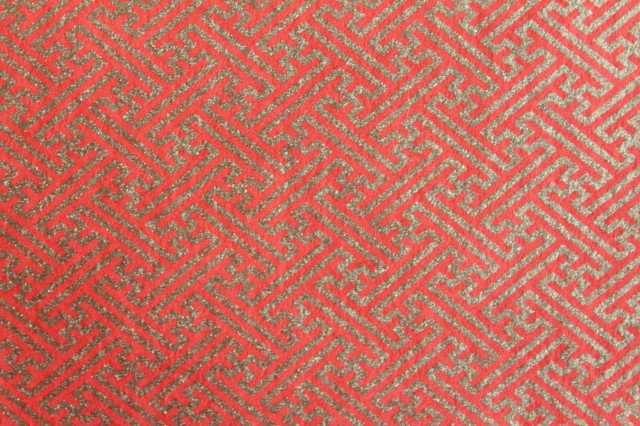 Hand-Dyed Yuzen Washi Paper - 042 Red