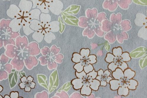 Hand-Dyed Yuzen Washi Paper - 052 Purple