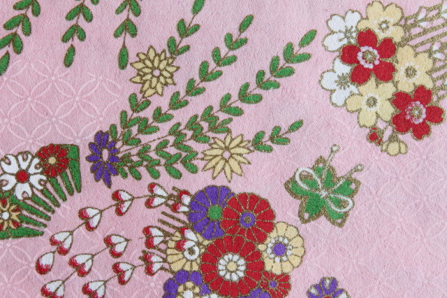 Hand-Dyed Yuzen Washi Paper - 002 Pink