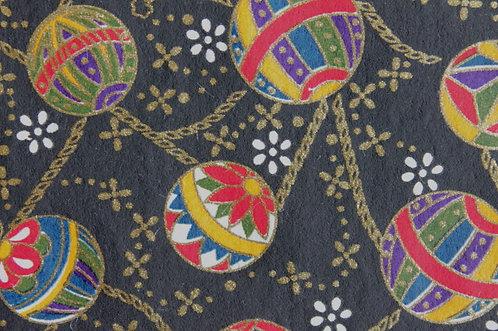 Hand-Dyed Yuzen Washi Paper - 021 Black