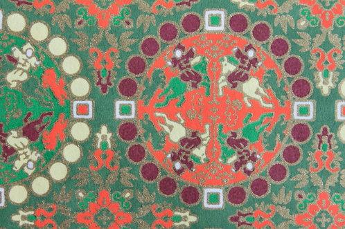 Hand-Dyed Yuzen Washi Paper - 051 Green