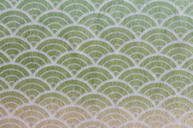 Hand-Dyed Yuzen Washi Paper - 013 Green