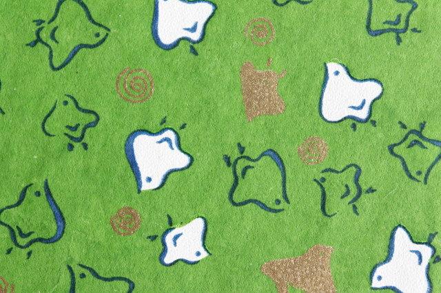 Hand-Dyed Yuzen Washi Paper - 008 Green