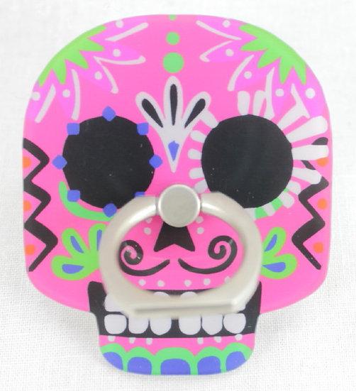 Smartphone Ring - Skull Pink