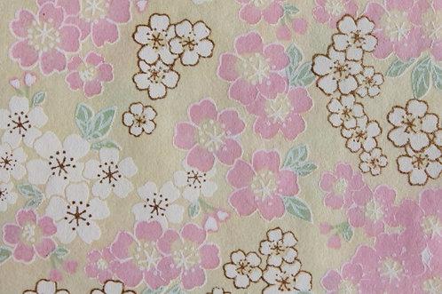 Hand-Dyed Yuzen Washi Paper - 050 Yellow