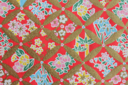 Hand-Dyed Yuzen Washi Paper - 045 Red