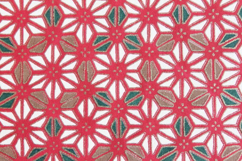 Hand-Dyed Yuzen Washi Paper - 010 Red