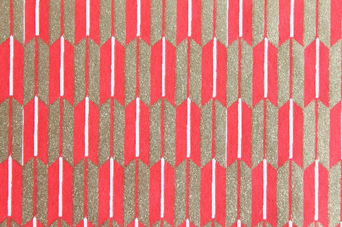 Hand-Dyed Yuzen Washi Paper - 019 Red