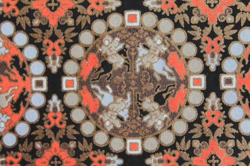 Hand-Dyed Yuzen Washi Paper - 051 Black