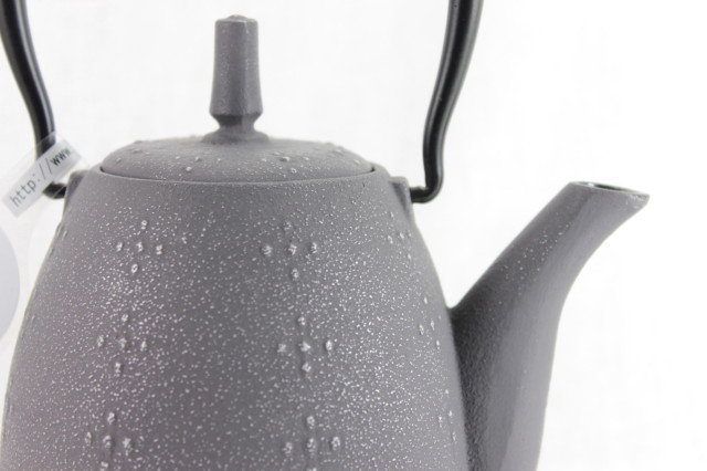 "Teapot ""RICE"" Gray - Cast Iron"