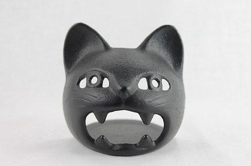 Candle Holder Black Cat - Cast Iron