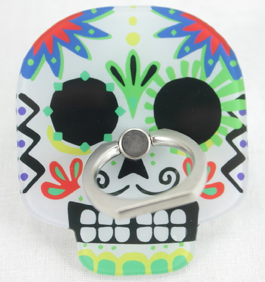 Smartphone Ring - Skull White