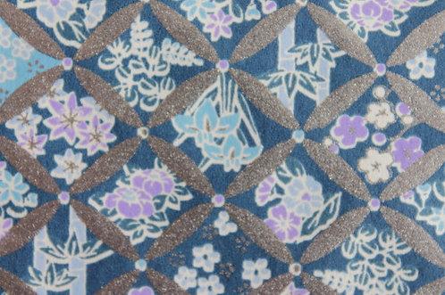 Hand-Dyed Yuzen Washi Paper - 045 Blue