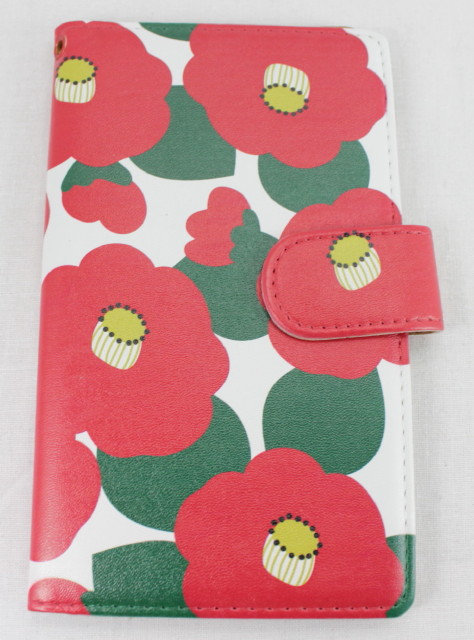 Wallet Mobile Phone Case Cover - Camellia