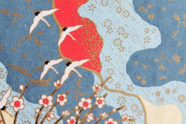 Hand-Dyed Yuzen Washi Paper - 003 Blue