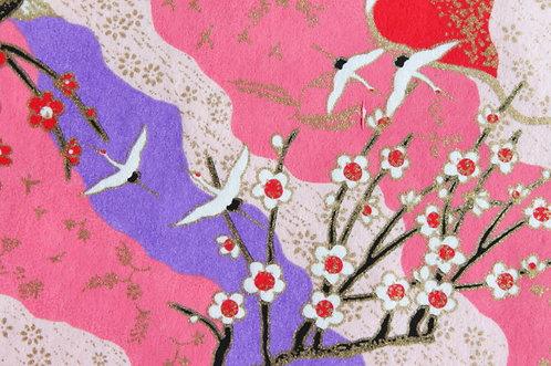 Hand-Dyed Yuzen Washi Paper - 003 Pink