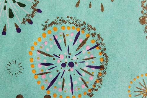 Hand-Dyed Yuzen Washi Paper - 034 Light-Blue