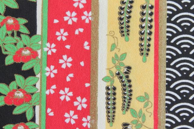 Hand-Dyed Yuzen Washi Paper - 014 Black