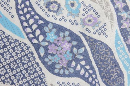 Hand-Dyed Yuzen Washi Paper - 031 Blue