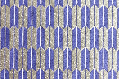 Hand-Dyed Yuzen Washi Paper - 019 Blue