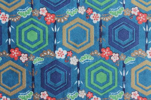 Hand-Dyed Yuzen Washi Paper - 054 Blue