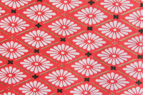 Hand-Dyed Yuzen Washi Paper - 012 Red