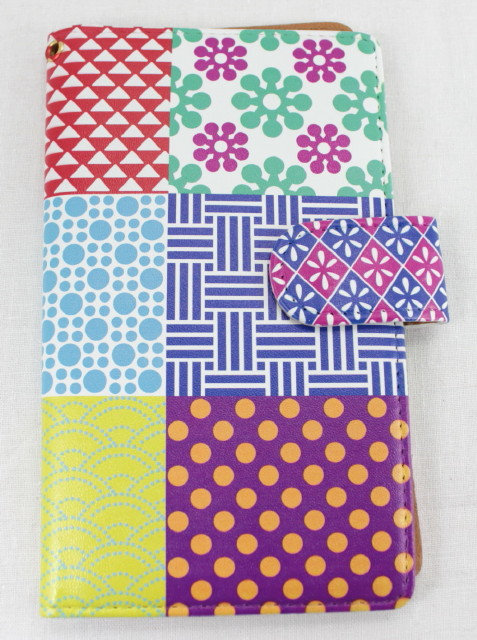Wallet Mobile Phone Case Cover - Patchwork