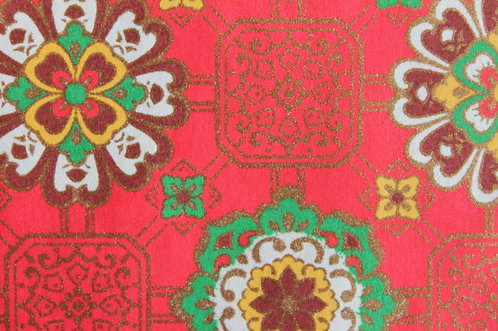 Hand-Dyed Yuzen Washi Paper - 049 Red