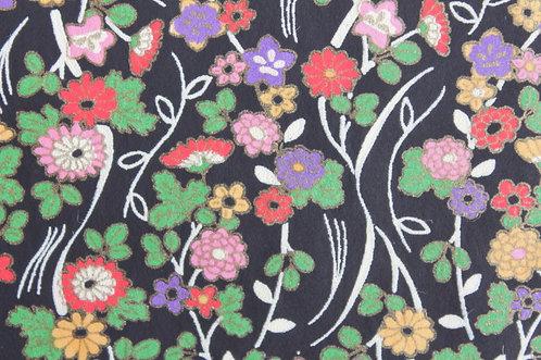 Hand-Dyed Yuzen Washi Paper - 029 Black