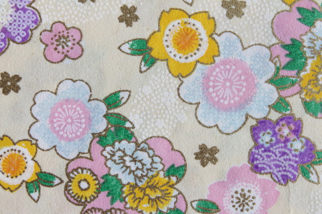 Hand-Dyed Yuzen Washi Paper - 036 Cream