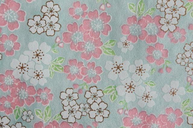 Hand-Dyed Yuzen Washi Paper - 050 Blue