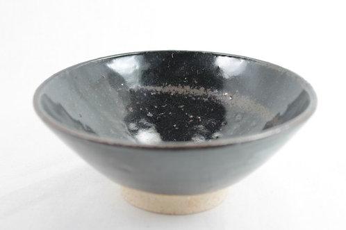 Raku Black glazed Matcha bowl - Iga-ware
