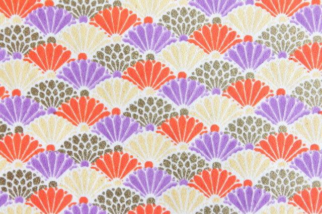 Hand-Dyed Yuzen Washi Paper - 040 Orange