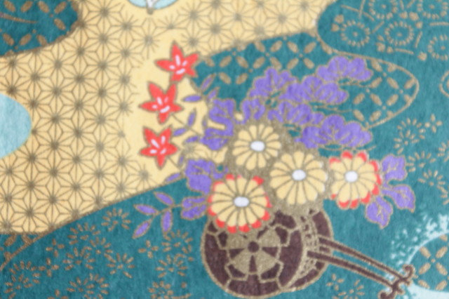 Hand-Dyed Yuzen Washi Paper - 004 Green
