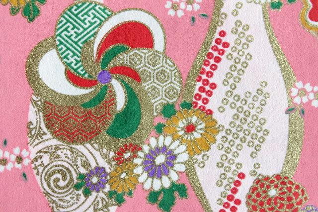 Hand-Dyed Yuzen Washi Paper - 027 Pink