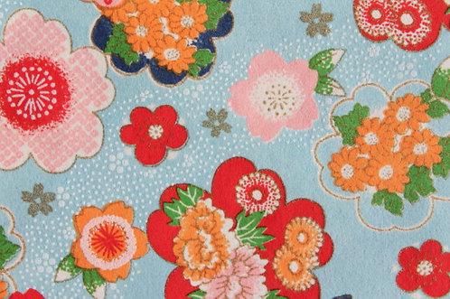 Hand-Dyed Yuzen Washi Paper - 036 Blue