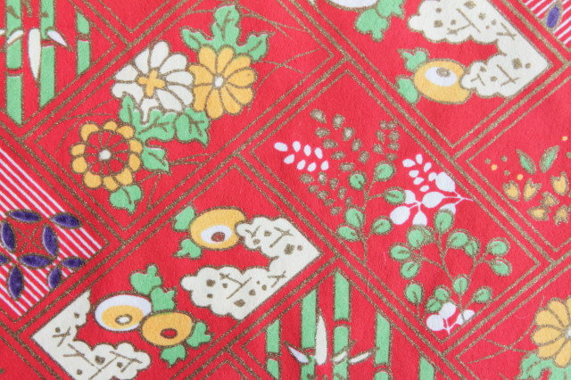 Hand-Dyed Yuzen Washi Paper - 025 Red