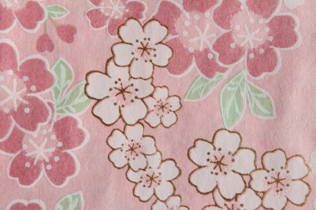 Hand-Dyed Yuzen Washi Paper - 052 Cherry-Pink