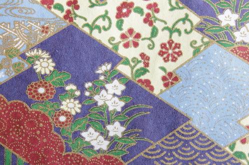 Hand-Dyed Yuzen Washi Paper - 028 Purple