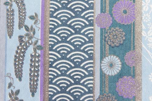 Hand-Dyed Yuzen Washi Paper - 014 Purple