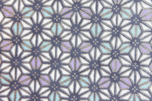 Hand-Dyed Yuzen Washi Paper - 010 Silver Purple