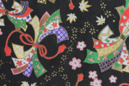 Hand-Dyed Yuzen Washi Paper - 047 Black