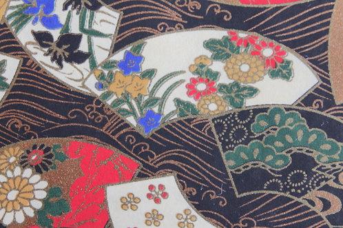 Hand-Dyed Yuzen Washi Paper - 026 Black