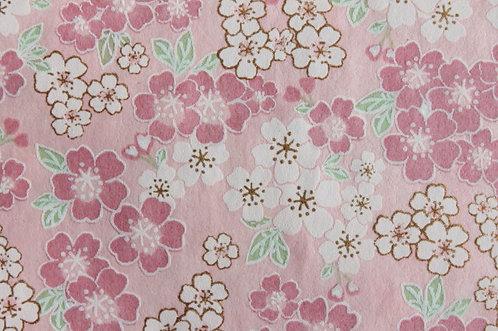 Hand-Dyed Yuzen Washi Paper - 050 Pink