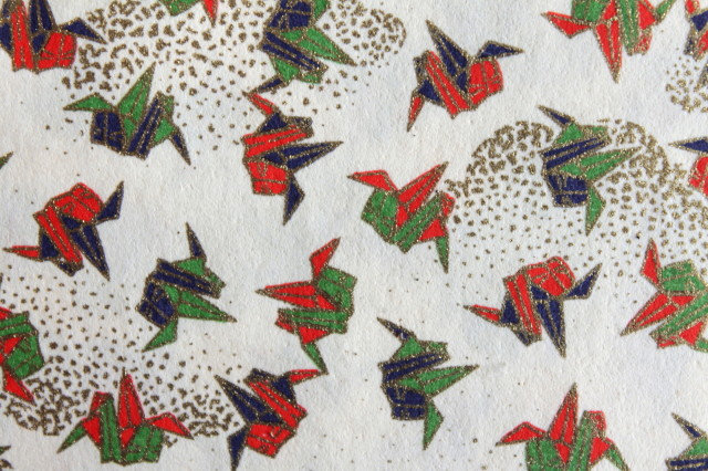 Hand-Dyed Yuzen Washi Paper - 030 Cream
