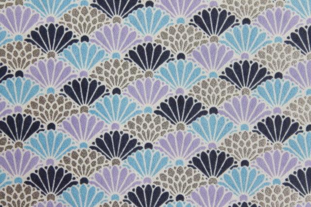 Hand-Dyed Yuzen Washi Paper - 040 Blue