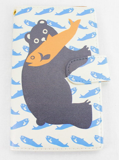 Wallet Mobile Phone Case Cover - Bear